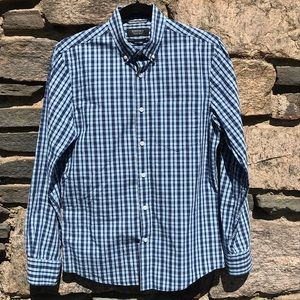 Nordstrom Men's Shop Button Down Blue Check Small